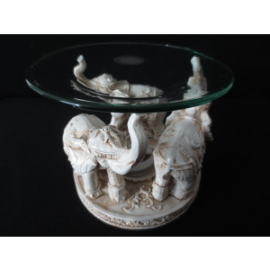 Duftöllampe/Aromalampe 3 Elefanten  weiss