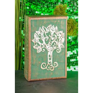 Keltischer Lebensbaum Holzbox H: 6, L: 21, B: 13,5 cm