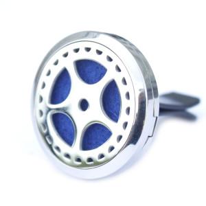 Auto Lufterfrischerset - Edelstahl Autofelge - 30mm