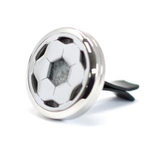 Auto Lufterfrischerset - Edelstahl Fußball - 30mm