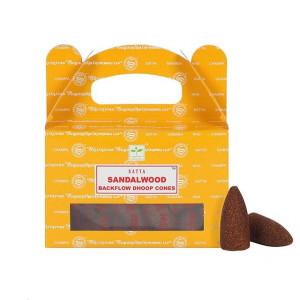 Satya Sandalwood Backflow Dhoop Cones/Rückfluss...