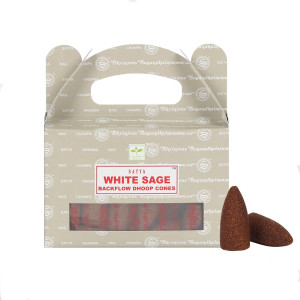 Satya White Sage Backflow Dhoop Cones/Rückfluss...