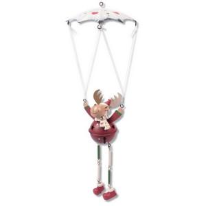 Schwingfigur Fallschirm mit Elch, 25cm