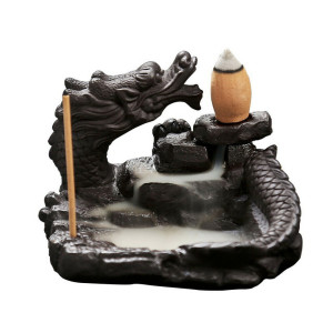 Back Flow Incense Burner - Keramik Drache Rückfluss...