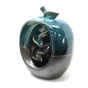 Back Flow Incense Burner - Keramik Apfel Brunnen /...