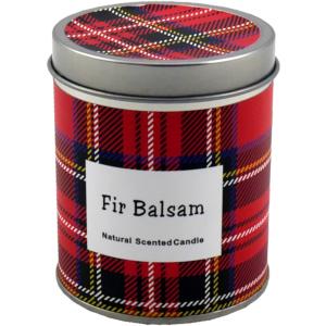 """Aromakerze """"Karo"""", fir balsam, H: 7.5cm, D: 6cm"""
