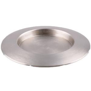 Kerzenteller rund D 13 cm vernickelt