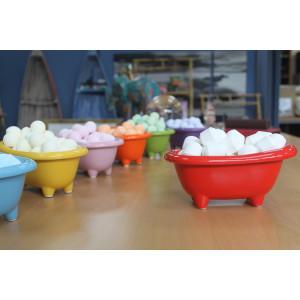 Kleine Keramikbadewanne - mohnrot mit süßen...