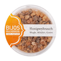 Honigweihrauch - Muqlo, Mirafur, Gunro im 50 ml PS-Glas