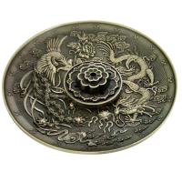Räucherstäbchenhalter rund Chinesischer Drache Green 5 Löcher