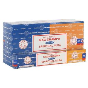 Satya Combo Pack Nag Champa und Spiritual Aura...