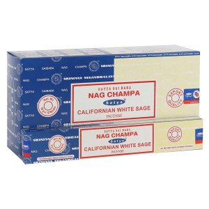 Satya Combo Pack Nag Champa und Californian White Sage...