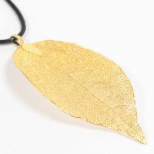Edel Blattschmuck, Kette - Blatt - Gold