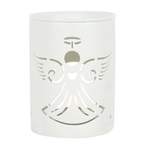 Matt-Weiße Keramik Duftlampe weißer Engel