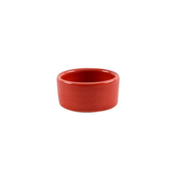 Teelichthalter rot Keramik glasiert Ø 5 cm FAIR TRADE