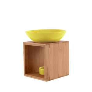 Duftlampe MALMÖ gelb FAIR TRADE - Holz/Keramik...