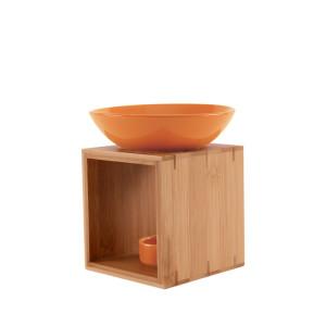 Duftlampe MALMÖ orange FAIR TRADE - Holz/Keramik...