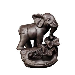 Back Flow, Rückflussbrenner Keramik Indischer Elefant