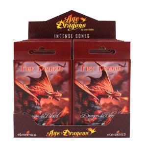 Fire Dragon Räucherkegel by Anne Stokes