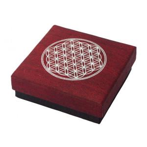 """Geschenkbox """"Blume des Lebens"""" Baumwolle maroon..."""