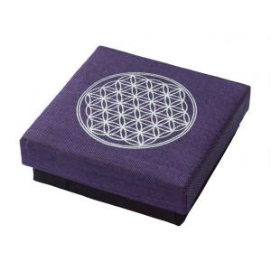 """Geschenkbox """"Blume des Lebens"""" Baumwolle purple..."""