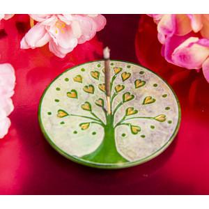 Lebensbaum Herzchen, grün Räucherstäbchenhalter