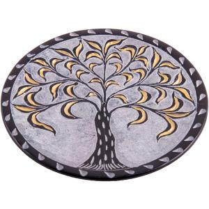 Räucherstäbchenhalter Lebensbaum schwarz-gold