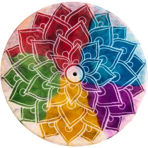 Regenbogen Mandala Räucherstäbchenhalter